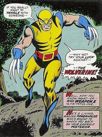 La primera aparición de Wolverine (Lobezno) fue en Incredible Hulk #180