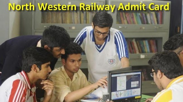 North Western Railway Admit Card