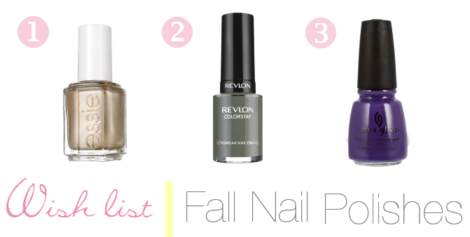 Wish List | Fall Nail Polish
