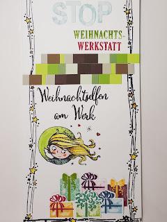 Weihnachtlicher Türhänger für Weihnachtselfen Stampin' Up! www.eris-kreativwerkstatt.blogspot.de