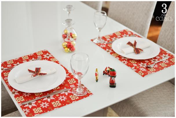 mesa posta natal simples