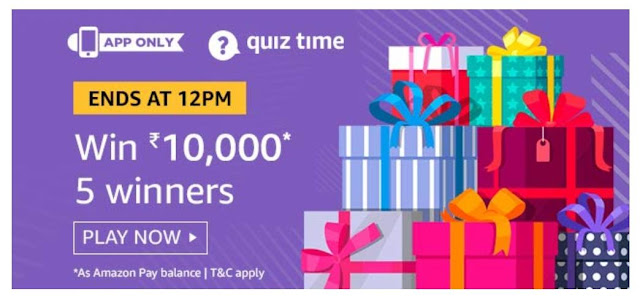 Amazon Quiz Answers Today 07 September 2019 Win