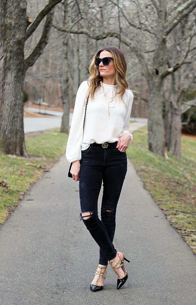 Long Sleeve White Blouse #whiteblouse #springfashion