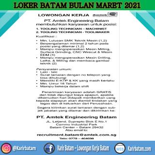 Lowongan Kerja PT. Amtek Engineering