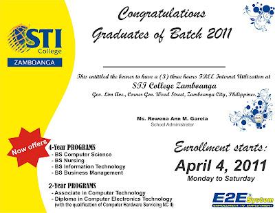 AlOnlineStuff: STI College Zamboanga (Mock Diploma)