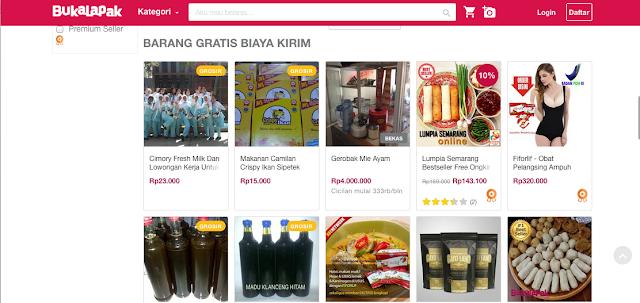 Contoh jual makanan online di bukalapak