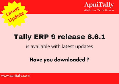 Download Tally ERP 9 latest release 6.6.1