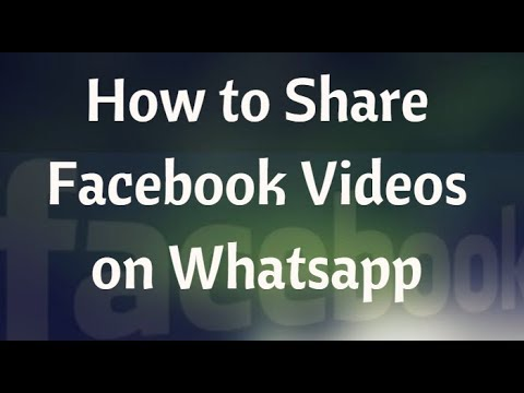 How to Send Video From Facebook Messenger to Whatsapp on Android