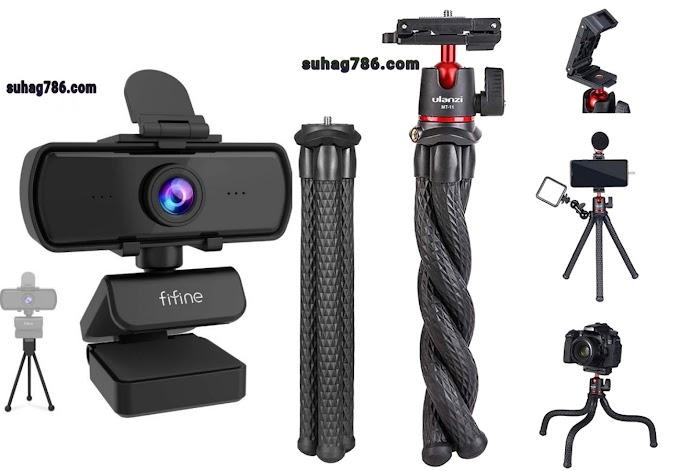 Fifine K420 1440P 5MP HD Best Budget Webcam in Bangladesh . ULANZI MT11 Octopus Tripod