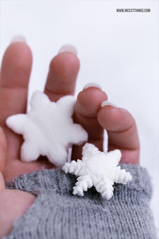 Marshmallows Rezept Schneeflocken Marshmallows selber machn #marshmallows #schneeflocken #marshmallow #snowflakes #winterrezepte