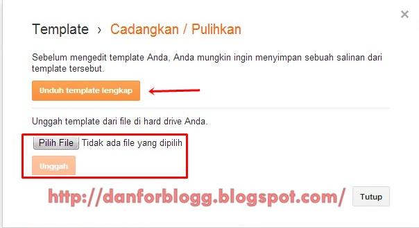 Cara Mengganti Template Hasil Download untuk Blogspot