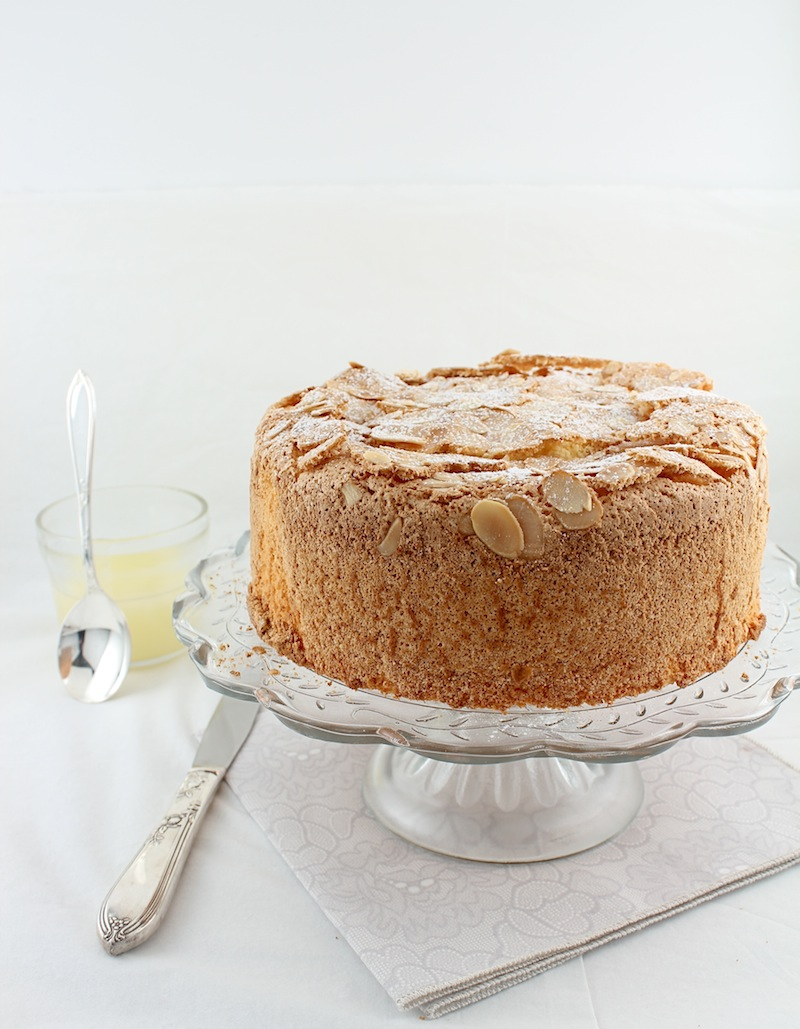 Passover Lemon Almond Sponge Cake With Warm Lemon Sauce