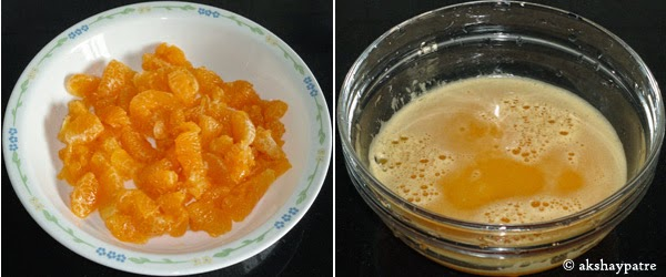 orange juice to make cake