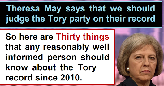 30 things you should know about the Tory record
