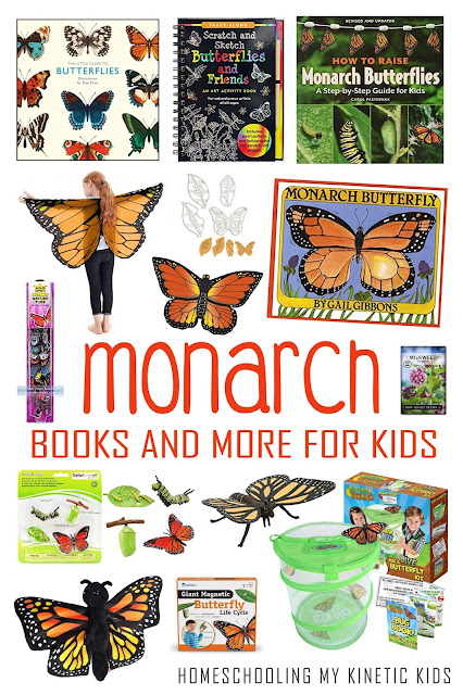 Learn more about the Monarch Butterfly and its life cycle with these great book and toys for kids