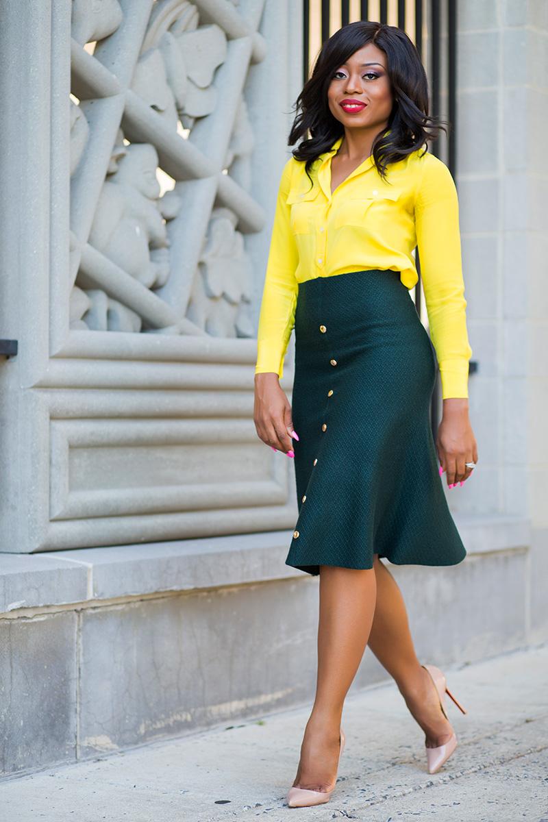 Fall work style ideas, JCrew blouse