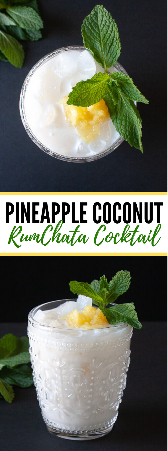 Pineapple Coconut RumChata Cocktail #drinks #partydrink