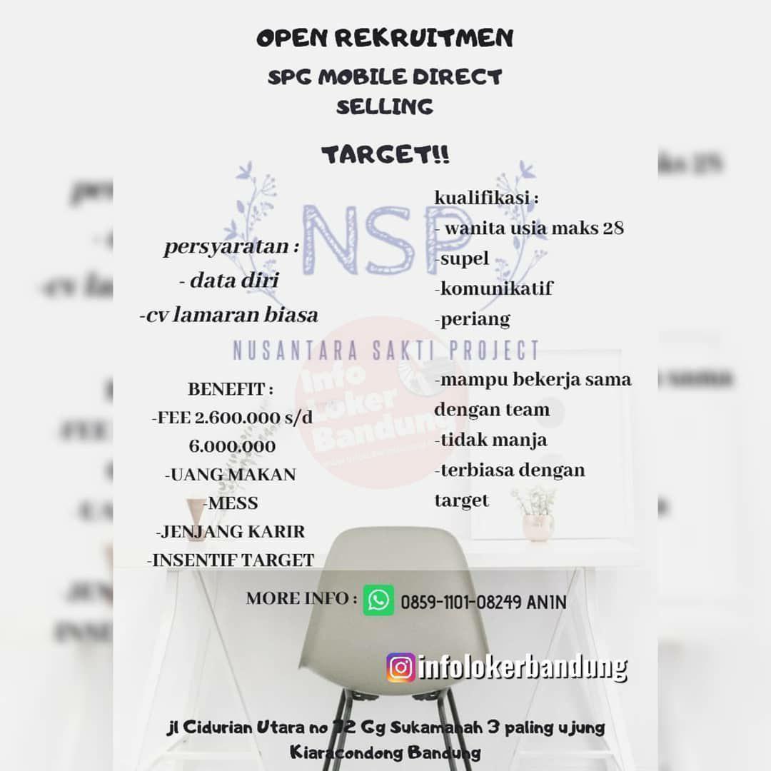 Lowongan Kerja SPG Mobile Direct Selling NSP Bandung November 2019