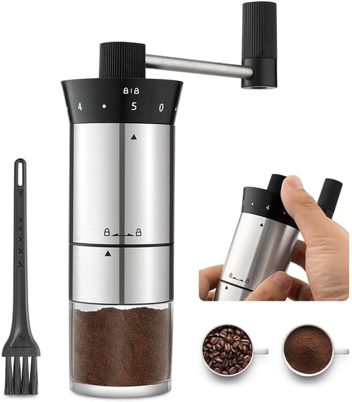 LISA ENJOYMENT Manual Portable Coffee Grinder