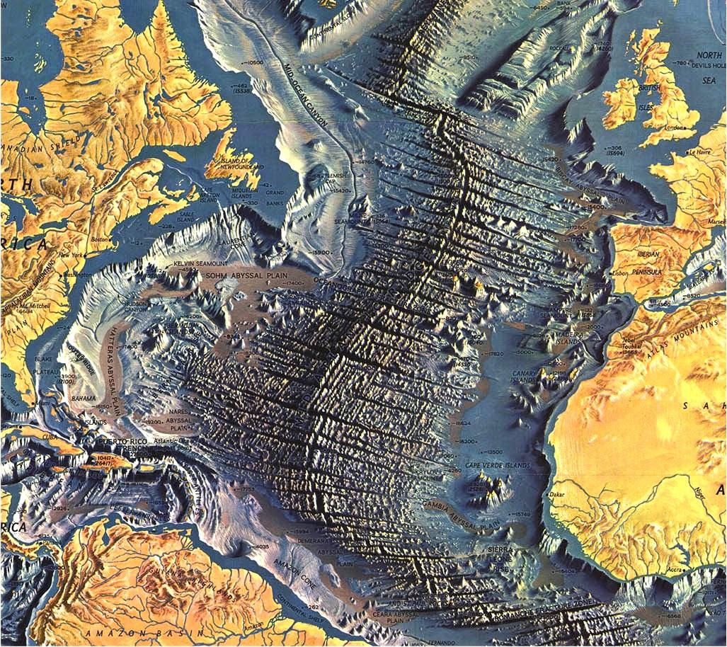 Maps Expose Unseen Details Of The Atlantic Ocean Floor