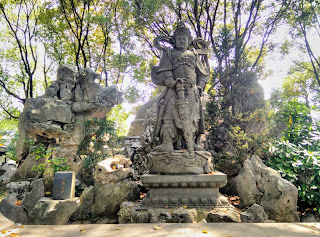 Statue Of Warrior At North Temple Pagoda In Suzhou