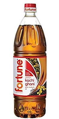 Fortune Kachi Ghani Pure Mustard Oil 1L
