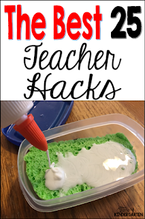 Teacher hacks for primary classrooms, kindergarten first and second grade teacher tips for time saving  money .  Learn how to  cut corners and save time with these tips