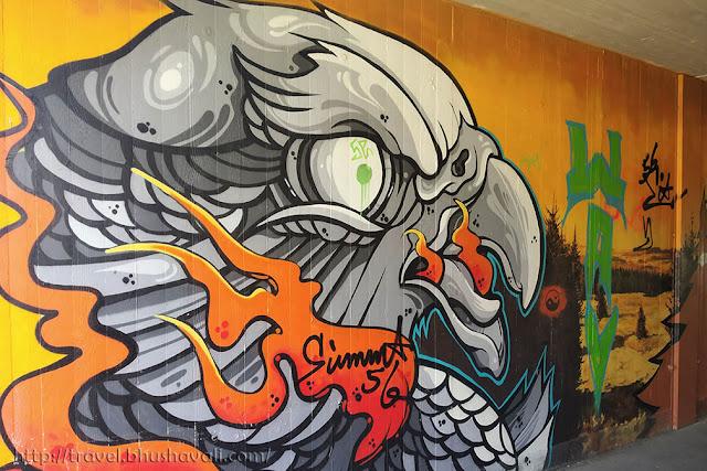 Vennbahn Radweg Graffiti