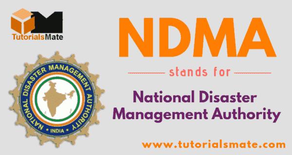 NDMA Full Form