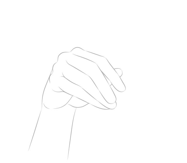 Tangan memegang gambar lengan sumpit