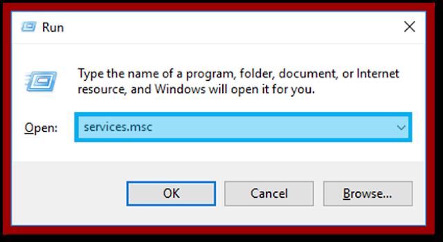 Membuka Services di Windows Run