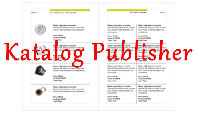 cara membuat katalog produk dengan microsoft publisher