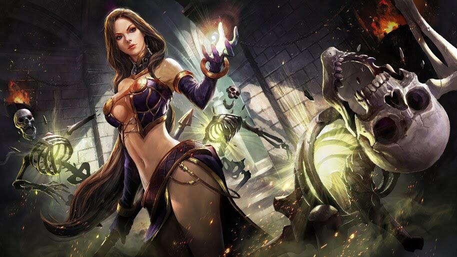 Wizard, Magician, Girl, Fantasy, 4K, #6.730