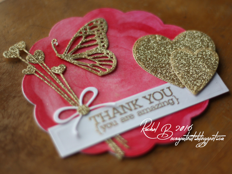 Scrapatout - Handmade card, Impression Obsession, Hearts, Butterfly, Thank you