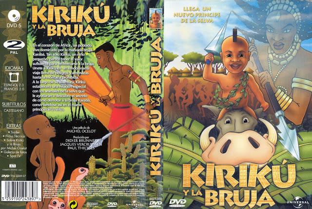 Carátula del DVD de la película Kirikú y la bruja