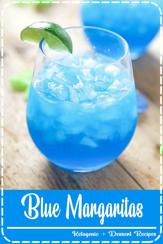 These incredibly refreshing margaritas are SO easy Blue Margaritas