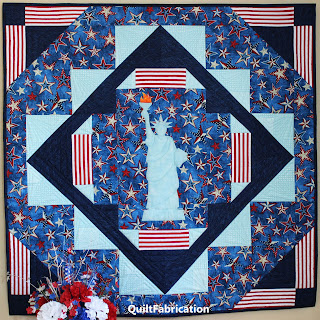 statue of liberty-patriotic wall hanging-quilt pattern-easy beginner pattern-fourth of july quilt-liberty quilt