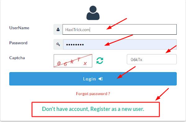 Login or Register on Voters Portal to Download