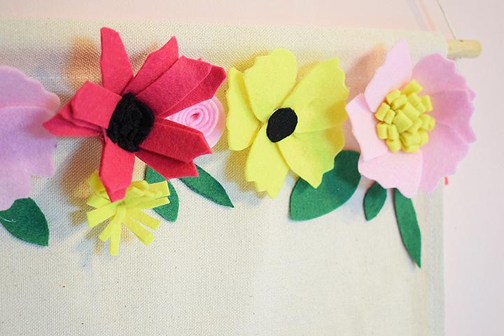 tutoriel fleurs en feutrine