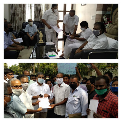 Today, the Hon'ble MLCs met Education Minister Shri Adimulam Suresh Gari to discuss transfers and rationalization issues.