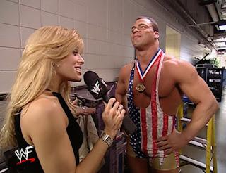 WWE / WWF No Way Out 2002 - Lillian Garcia interviews Kurt Angle
