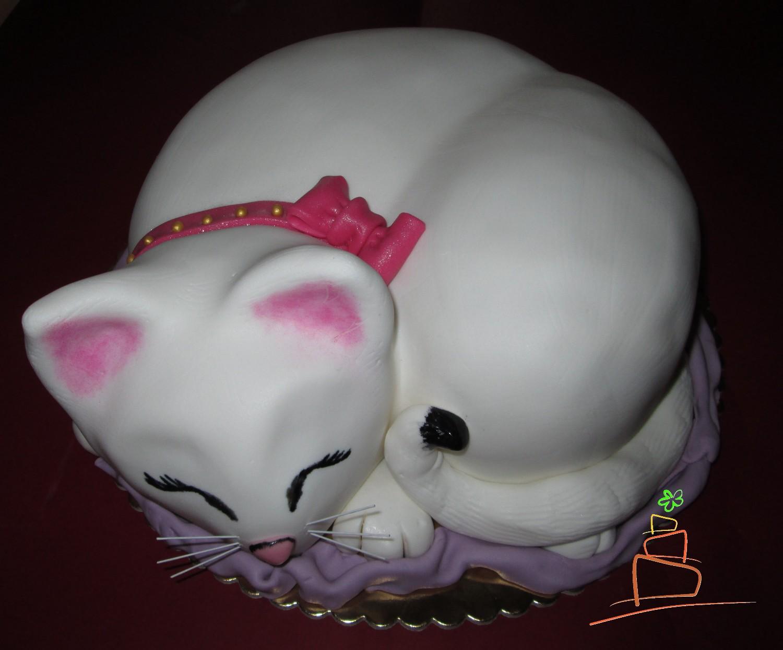 Torty Inas Tort śpiący Kot