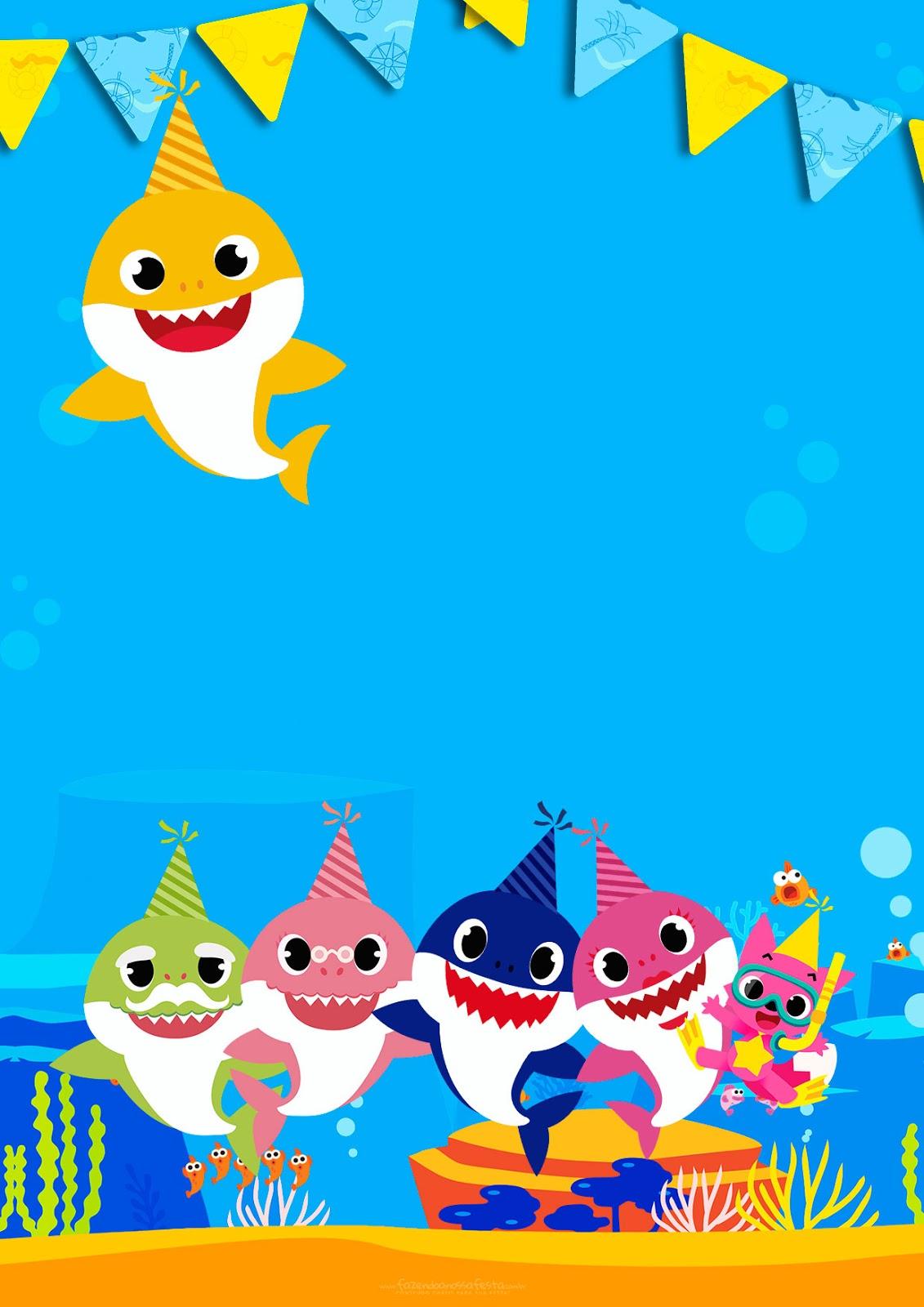 Baby Shark Invitaciones Para Imprimir Gratis Oh My Bebé