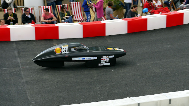 Carbon fibre Eco-marathon car