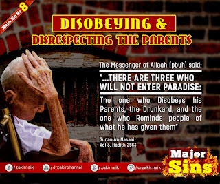 MAJOR SIN. 8. DISOBEYING & DISRESPECTING THE PARENTS | Kabira Gunah