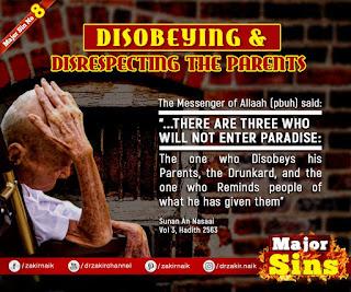 MAJOR SIN. 8. DISOBEYING & DISRESPECTING THE PARENTS | Kabira Gunah
