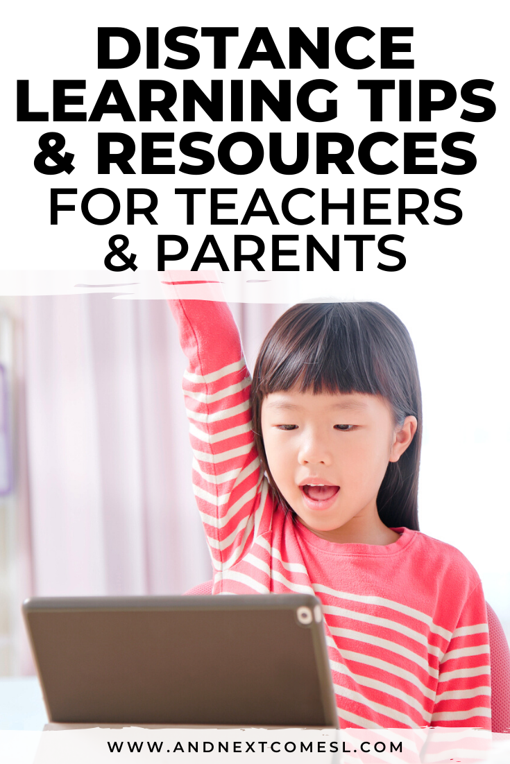 Distance learning resources & tips for teachers, parents, and therapists - includes lots of free resources!