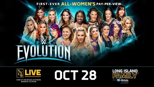 WWE evolution pay per view (ppv) results /highlights.