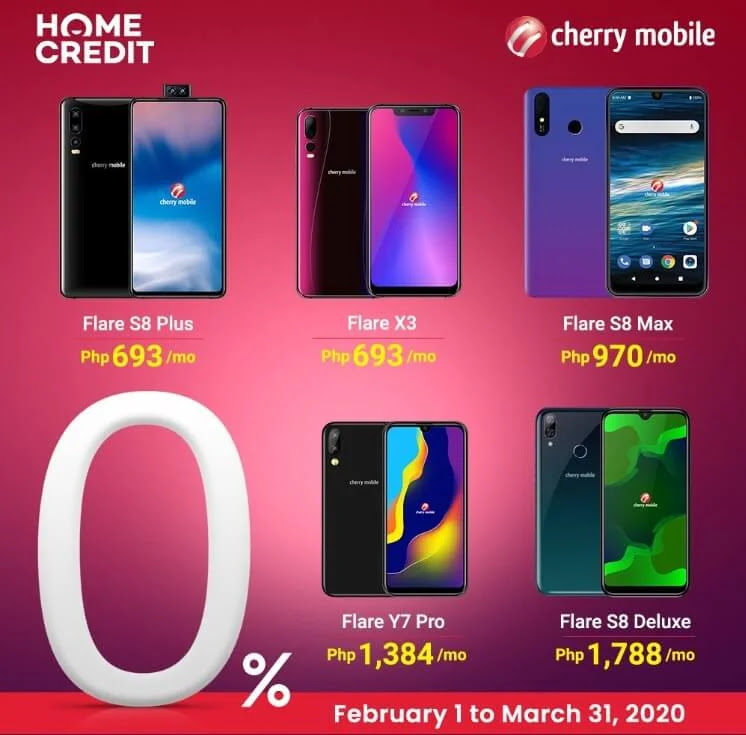 Cherry Mobile Devices Now at Home Credit at 0% Interest; Yours for as low as Php693 per Month