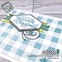 Stampin' Up! Buffalo Check and Snowflake Sentiments Card Idea. Order craft products from Mitosu Crafts UK online shop